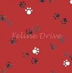 Take Me Home - Paw Prints - Red