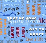 Take Me Home - Adoption Words - Blue