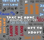 Take Me Home - Adoption Words - Grey