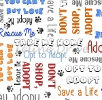 End of Bolt Piece - Take Me Home - Adoption Words - White - 16