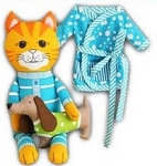 The Cat's Pyjamas - Panel - Blue