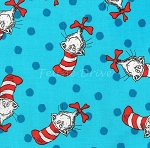 End of Bolt Piece - The Cat in the Hat - Cat Toss - Blue - 20