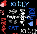 The Cat's Meow (Henry Glass) - Cat Words - Black