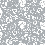 Flannel - The Kitten's Meow - Paw Prints - Iron