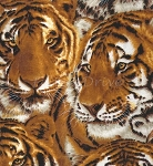End of Bolt Piece - Tigers - Packed Tiger Faces - 12
