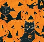 End of Bolt Piece - Too Cute to Spook - Cats & Pumpkins - 11