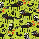 Trick or Treat Cats - Green