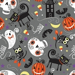 Trick or Treat - Nighttime Friends - Gray