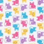 Flannel - Urban Zoologie Minis - Kittens - Spring