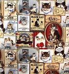 Fat Quarter - Victorian Cats