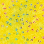 End of Bolt Piece - Whiskers & Catnip - Paws - Citrus - BATIK - 12