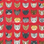 End of Bolt Piece - Whiskers & Tails - Cat Heads - Red - 4.5
