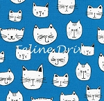 Whiskers & Tails - Cat Faces - Blue