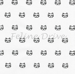 Whiskers & Tails - Cat Heads - White