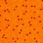 Woof n' Whiskers - Paw Prints - Orange