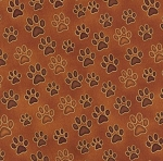 Fat Quarter - Wild Cats - Paw Prints