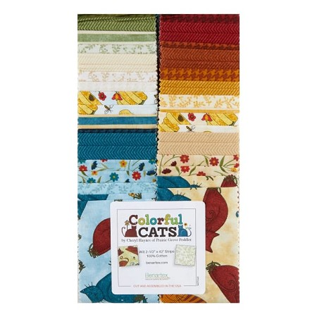 "2.5"" Strips - Colorful Cats"