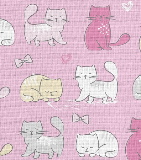 Fat Quarter - Kitty Cats on Pink