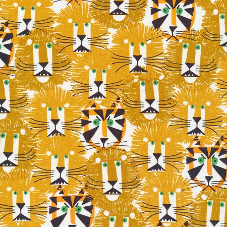 Fat Quarter - Ed Emberley Favorites - Lions & Tigers Organic