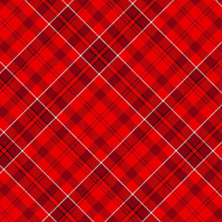 Fat Quarter - Fireside Kittens - Red Plaid