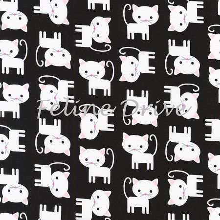 Urban Zoologie - Cats - White on Black