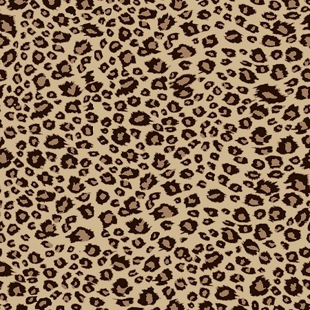 On Safari - Leopard Spots - Brown