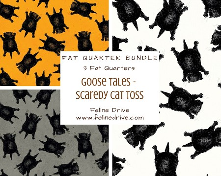 Fat Quarter Bundle - Goose Tales - Scaredy Cats Toss - 3 FQs