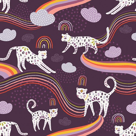 Fat Quarter - Kushukuru - Rainbow Jaguar