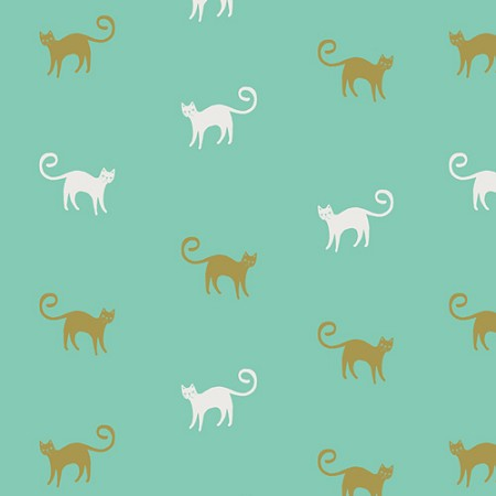 Fat Quarter - Oh Meow - Feline Good