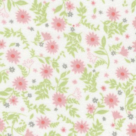 Flannel - Cozy Cotton Flannel - Pink Flowers