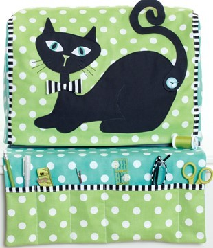 Pattern - Vintage Kitty - Sewing Machine Cover & Organizer Mat