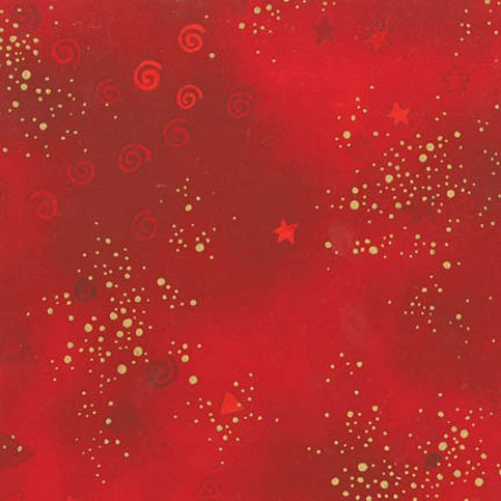 Laurel Burch Basic Glitter - Red