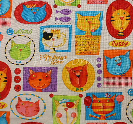 Fat Quarter - Cats on the Loose