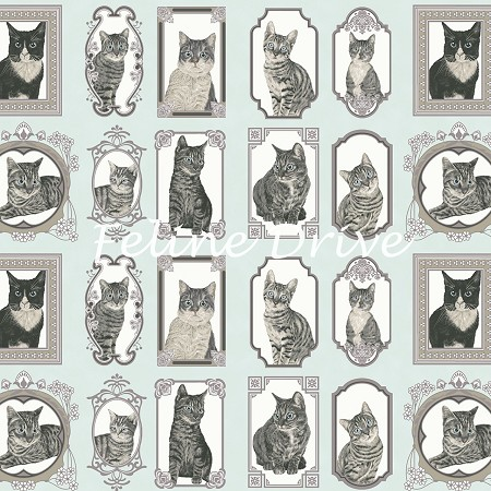 Cats The Way I Like It - Cat Blocks - Light Teal