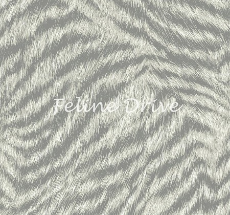 Fat Quarter - Cats The Way I Like It - Cat Fur - Light Grey