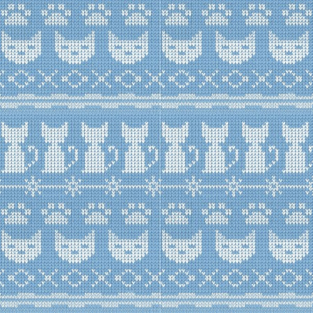 Fat Quarter - Fair Isle Friends - Stripe - Denim