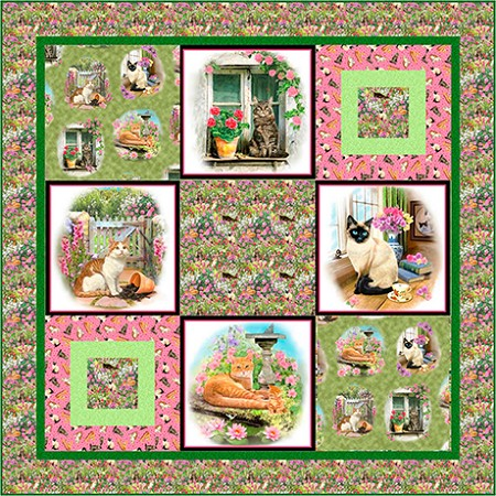 Quilt Kit - Fancy Felines