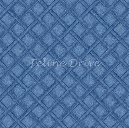 Feline Fine - Basketweave - Blue