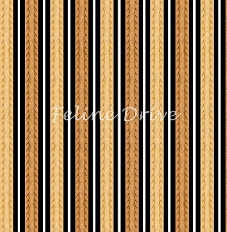 Feline Fine - Stripe - Brown/Gold