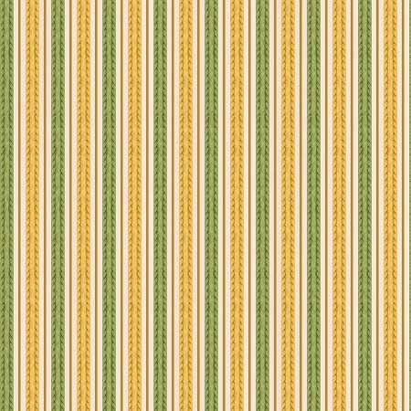 Fat Quarter - Feline Fine - Stripe - Green/Gold