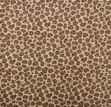 Flannel - Leopard Spots - Brown
