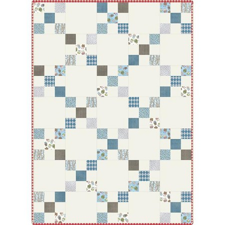 Quilt Kit - Forest Friends Irish Chain Quilt - Pre-Cut POD