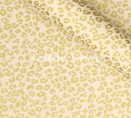 Fat Quarter - Gold Standard Collection - Cheetah Spots - Cream/Gold