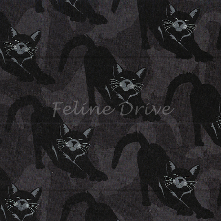 Fat Quarter - Gothic Glam - Bewitched - Charcoal