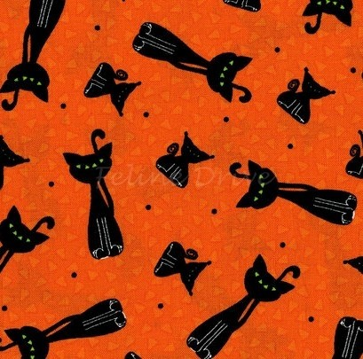 Happy Owl-o-Ween - Scary Kitty Toss - Pumpkin Orange
