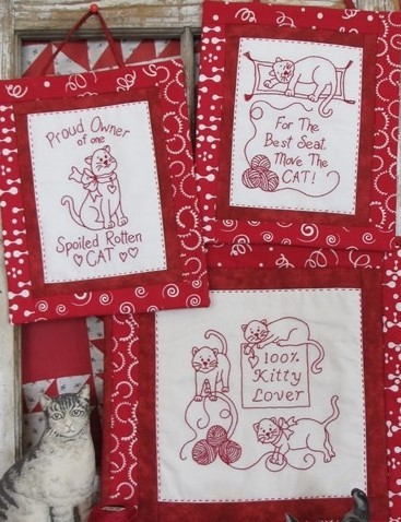 Pattern - Kitty Lover Redwork