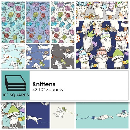 "10"" Squares - Knittens"