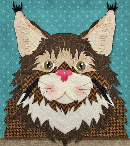 Block Kit - Cat - Maine Coon - Laser Cut