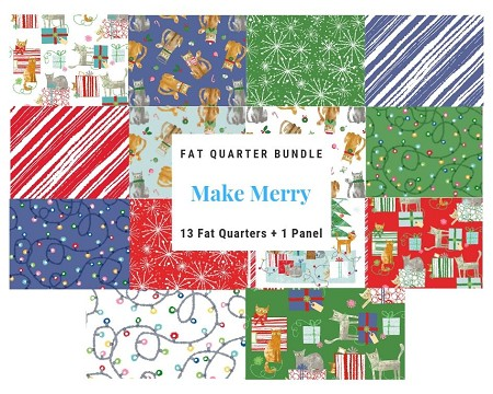Fat Quarter Bundle - Make Merry - 14 FQs + Panel