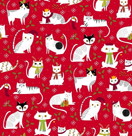 Meowy Christmas - Christmas Cats - Red